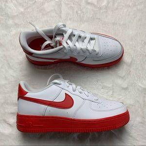 Nike Air Force White Red sole